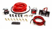 Electrical Wiring and Components - Race Car Wiring Kits - QuickCar Racing Products - QuickCar Wiring Kit Premium 4 Gauge w/Black 50-820 Panel