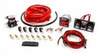 QuickCar Racing Products - QuickCar Wiring Kit Premium 4 Gauge w/Black 50-820 Panel