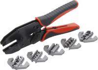 Electrical Tools - Wire Crimpers & Strippers - QuickCar Racing Products - QuickCar Ratcheting Wire Crimper w/ Dies