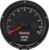 Memory Tachometers - In-Dash Memory Tachs - QuickCar Racing Products - QuickCar Redline Multi-Recall Tach Black
