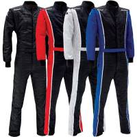 SFI-5 Rated Multi-Layer Suits - Shop All SFI-5 Auto Racing Suits - Impact - Impact Racer Firesuit - Black/Blue - Medium