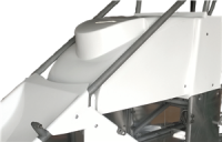 Body & Exterior - Midget - Triple X Race Co. - Triple X Midget Hood Inside The Rail - White