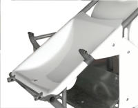 Midget Parts - Midget Body Panels - Triple X Race Components - Triple X Midget Nose Inside The Rail - White