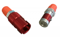 Brake System Adapters - Quick-Disconnect Couplings - Triple X Race Components - Triple X Quick Disconnect Brake Fitting Aluminum Red