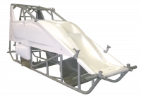 Sprint Car Chassis - Sprint Car Chassis Kits w/ Body - Triple X Race Co. - Triple X Sprint Car Kit B (Body & Tin) X-Wedge Design Blk