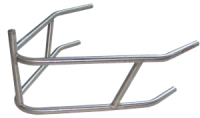 Bumpers & Nerfs - Sprint Car Front Bumpers - Triple X Race Co. - Triple X Sprint Car Rear Bumper w/ Post - 4130 Chromoly - Black