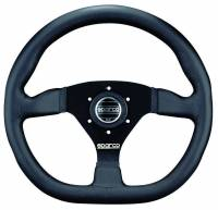 Street Performance / Tuner Steering Wheels - Sparco Steering Wheels - Sparco - STRWHL L360 RING LEATHER BLACK