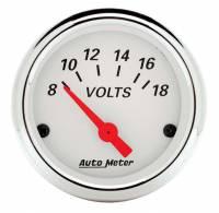 "Auto Meter - Auto Meter Arctic White Voltmeter Gauge - 2-1/16"" - Image 2"
