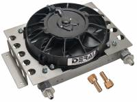Drivetrain Components - Derale Performance - Derale 15 Row Atomic Cool Plate & Fin Remote Cooler, -6AN