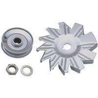 Engine Components - Trans-Dapt Performance - Trans-Dapt Alternator Fan and Pulley - Chrome
