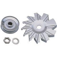 Pulleys & Belts - Alternator Pulleys - Trans-Dapt Performance - Trans-Dapt Alternator Fan and Pulley - Chrome