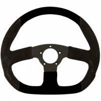 """Street Performance / Tuner Steering Wheels - Grant GT Steering Wheels - Grant Steering Wheels - Grant Suede D - Shaped Steering Wheel - 13 3/4"""" - Black"""