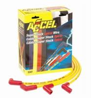 Spark Plug Wires - ACCEL SuperStock Spiral Core 5000 Series Spark Plug Wire Sets - Accel - ACCEL Custom Fit Super Stock Spiral Spark Plug Wire Set - Yellow