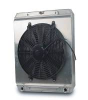 AFCO Radiators - AFCO Dragster/Roadster Radiators - AFCO Racing Products - AFCO Dragster Radiator w/ Fan and Shroud
