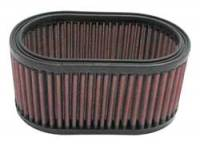 "Air Filter Elements - Universal Oval Air Filters - K&N Filters - K&N Performance Air Filter - Oval - 7 x 4-1/2"" x 3-5/16"" - Universal"