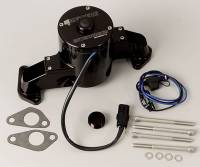 Water Pumps - Electric - Big Block Ford / FE Electric Water Pumps - Meziere Enterprises - Meziere BB Ford Billet Electric Water Pump - Black