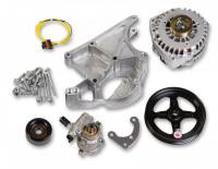 Pully Systems - Chevy Serpentine Pulley Systems - Holley Performance Products - Holley LS Alternator & Power Steering Pump Accessory Drive Kit - Driver's Side Bracket