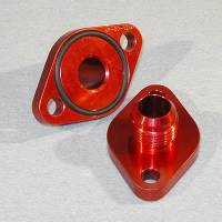 Water Pump Block-Off Plates and Adapters - Water Pump Adapters - Meziere Enterprises - Meziere BB Chevy #12 Water Pump Port Adapters - Red (2 Pack)