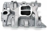 Intake Manifolds - Intake Manifolds - Pontiac - Edelbrock - Edelbrock Performer Pontiac Intake Manifold - Cast Finish
