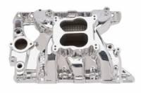 Intake Manifolds - Intake Manifolds - Pontiac - Edelbrock - Edelbrock Performer RPM Pontiac Intake Manifold - Endurashine