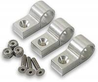 "Hose & Fitting Accessories - Line Clamps - Earl's Performance Products - Earl's 1/4"" Polished Aluminum Line Clamps (6 Pack)"
