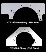 Motor Plates and Components - Mid-Plates - Chassis Engineering - Chassis Engineering Small Block Mopar Steel Mid-Plate