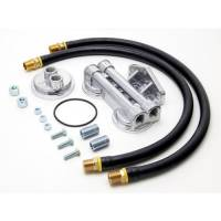 Oil Filter Relocation Kits and Mounts - Oil Filter Relocation Kits - Trans-Dapt Performance - Trans-Dapt Dual Oil Filter Relocation Kit - 13/16-16 Threads