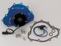 Water Pumps - Electric - Pontiac Electric Water Pumps - Meziere Enterprises - Meziere Pontiac Billet Electric Water Pump Blue