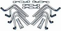 "Exhaust System - Hedman Hedders - Hedman Hedders 2-1/8"" SB Chevy Weld Up Kit- 4"" Slip On Collector"