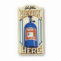 Crew Apparel - Signs - Nitrous Oxide Systems (NOS) - NOS Refill Metal Sign