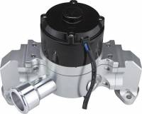 Water Pumps - Electric - Small Block Chevy Electric Water Pumps - CVR Performance Products - CVR Performance SB Chevy Billet Aluminum Electric Water Pump Clear