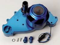 Water Pumps - Electric - Small Block Chevy Electric Water Pumps - Meziere Enterprises - Meziere SB Chevy LS1 Billet Electric Water Pump - Blue