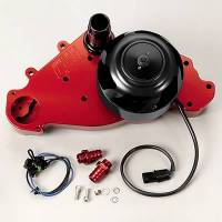 Water Pumps - Electric - Small Block Chevy Electric Water Pumps - Meziere Enterprises - Meziere SB Chevy LS1 Billet Electric Water Pump - Red