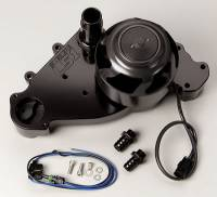 Water Pumps - Electric - Small Block Chevy Electric Water Pumps - Meziere Enterprises - Meziere SB Chevy LS1 Billet Electric Water Pump - Black