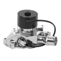 Water Pumps - Electric - Small Block Ford Electric Water Pumps - Meziere Enterprises - Meziere SB Ford Billet Electric Water Pump - Hi-Flow - Polished