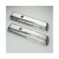 Engine Components - Trans-Dapt Performance - Trans-Dapt Chrome Plated Steel Valve Covers - Short Style