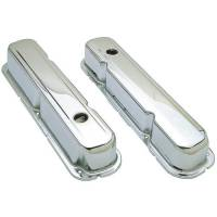 Valve Covers & Accessories - Steel Valve Covers - SB Chrysler - Trans-Dapt Performance - Trans-Dapt Chrome Plated Steel Valve Covers - Short Style