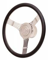 Cockpit & Interior - GT Performance - GT Performance GT Retro Banjo Style Leather Steering Wheel