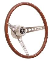 Ford Mustang (4th Gen) Steering and Components - Ford Mustang (4th Gen) Steering Wheels and Components - GT Performance - GT Performance GT Retro Wood Mustang Style Steering Wheel