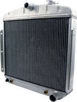Allstar Performance Radiators - Allstar 1955-57 Chevy Aluminum Radiators - Allstar Performance - Allstar Performance Radiator 1955-56 Chevy 6 Cylinder w/ Transmission Cooler