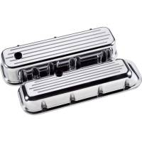 Engine Components - Billet Specialties - Billet Specialties BB Chevy Tall Valve Covers - Polished - Ball-Milled Logo - BB Chevy - (Set of 2)