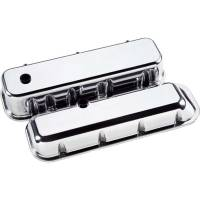 Engine Components - Billet Specialties - Billet Specialties BB Chevy Valve Covers - Tall - Polished - BB Chevy - (Set of 2)