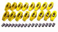 "Rocker Arms - Aluminum Roller Rocker Arms - BB Chevy - Crane Cams - Crane Cams BB Chevy Gold Race 1.7 Roller Rocker Arms- 7/16"" Stud"