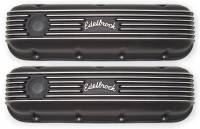 Valve Covers & Accessories - Aluminum Valve Covers - BB Chevy - Edelbrock - Edelbrock Valve Covers - Black Finish