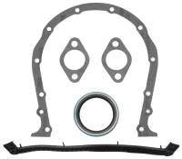 Timing Cover Gaskets - Timing Cover Gaskets & Seals - BB Chevy - Edelbrock - Edelbrock Timing Cover Gasket and Oil Seal Kit - Includes Front Cover Gasket/Front Seal