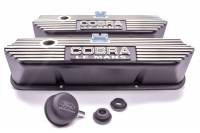 Valve Covers & Accessories - Aluminum Valve Covers - BB Ford / FE - Ford Racing - Ford Racing Black Satin FE Cobra Valve Cover Set