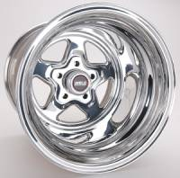 "Wheels - Street / Strip - Weld Racing Prostar Wheels - Weld Racing - Weld Pro Star Polished Wheel - 15 X 15"" - 5 x 4.5"" Bolt Circle - 5.5"" Back Spacing - 18.6 lbs"