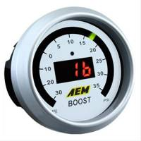 AEM Electronics - AEM Boost Gauge -30 to 50 psi Digital