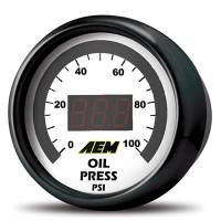 Gauges - Digital Oil Pressure Gauges - AEM Electronics - AEM Oil/Fuel Pressure Digitl Gauge 0-100 psi