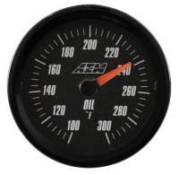 Gauges - Pressure Gauges - AEM Electronics - AEM Oil/Trans/Water Temp Analog Gauge 100-300f